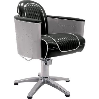 Fiche fauteuils pour coiffeur qualité professionnelle modèle falcon coloris noir