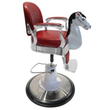 Fauteuil enfant barbier vintage avec animaux pour salon de coiffure et barber