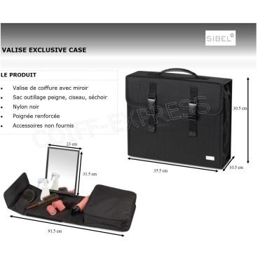 Fiche malette avec miroir pour coiffeuse à domicle marque sibel y toolcase exclusive case