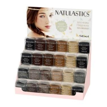 présentoir Elastique pour cheveux Natulastics de chez sibel coloris marron