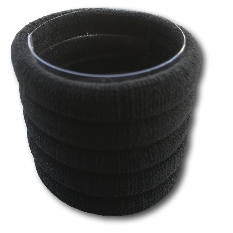 Elastique pour cheveux Natulastics de chez sibel coloris noir