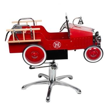 Fauteuil coiffure pour enfant modèle voiture pompier