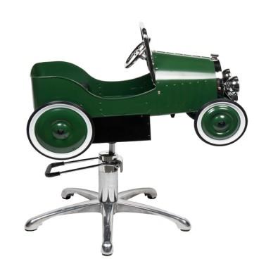 siege de coiffure professionnel pour enfant modèle voiture verte