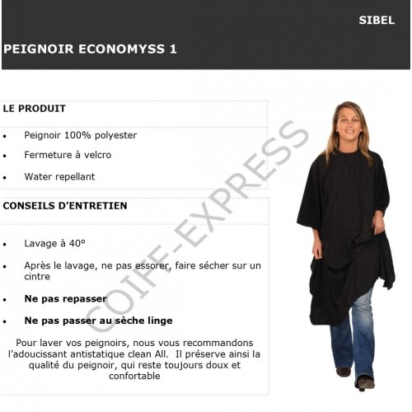 Fiche peignoir Economyss