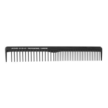 peigne de coupe 17.2 cm avec séparation professionnel en carbone pour salon de coiffure