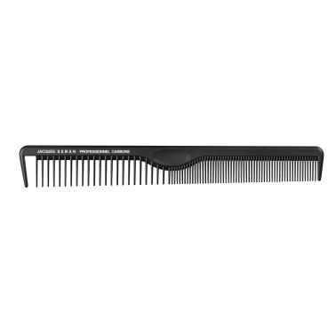 peigne de coupe long 21.5 cm avec séparation professionnel en carbone pour salon de coiffure