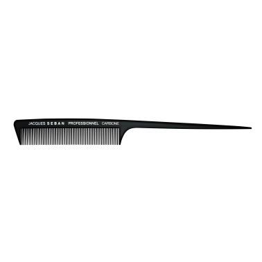peigne à queue 22.7 cm professionnel en carbone pour salon de coiffure