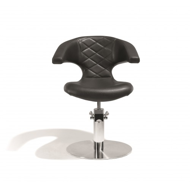 Fauteuil de coiffage Sensualis Noir pour base ronde salon de coiffure, spécial coiffeur avec pompe marque Sibel Furniture