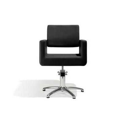 Fauteuil coiffage Felicitas Noir base étoile pour salon de coiffure, spécial coiffeur avec pompe marque Sibel Furniture