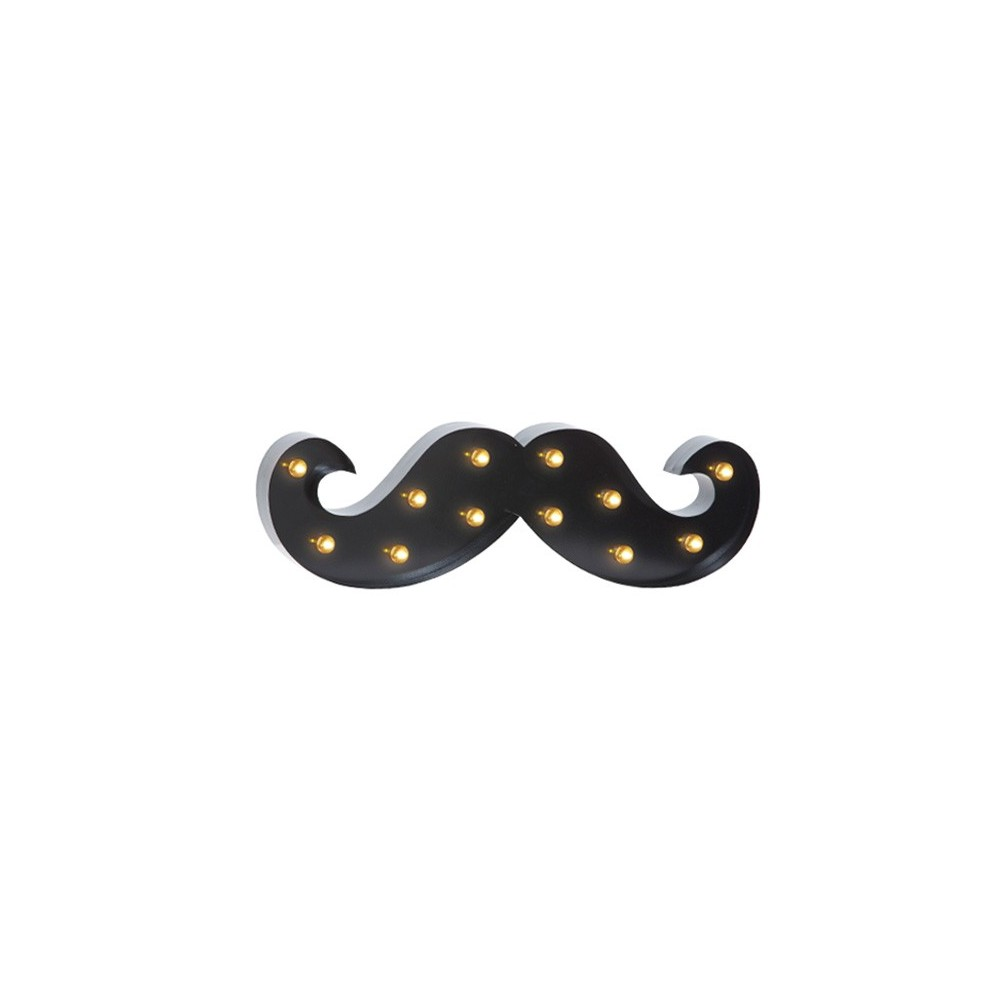 enseigne barbier lumineuse vintage moustache. Black Bedroom Furniture Sets. Home Design Ideas