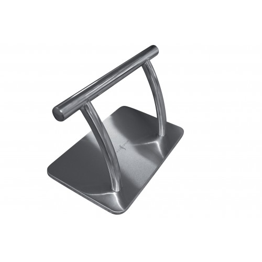Repose-pieds métal socle carré