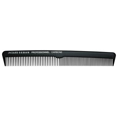 peigne de coupe court 18.3 cm avec séparation professionnel en carbone pour salon de coiffure