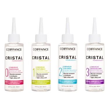 Permanente Cristal 150 ml Coiffance Boucles nerveuses et brillantes avec un parfum agréable et subtil